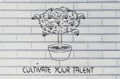 Cultivate your potential, your talent, your ideas — 图库照片