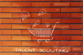Talent scouting, selecting ideas and talents to hire — Stock Photo
