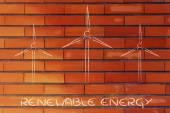 Renewable energy: wind park turbines — Stock Photo