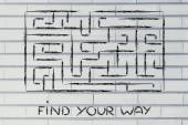 Metaphor maze design: find your way — Stok fotoğraf