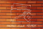 Privacy and confidential information protection — Stock Photo