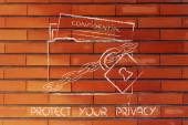 Privacy en bescherming van vertrouwelijke informatie — Stockfoto