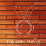 Best customer service, gold medal symbol — Stock Photo #53902787