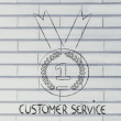 Best customer service, gold medal symbol — Stock Photo #53903163