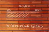 Métaphore de barre de progression, accélérer votre progression — Photo