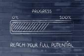 Progress bar metaphor, speed up your progress — Stock Photo