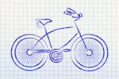 Design of a bicycle, symbol of active and sustainable living — Stock Photo