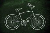 Ontwerp van een fiets, symbool van actieve en duurzame leven — Stockfoto