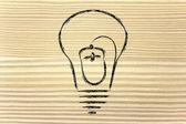 Computer mouse inside lightbulb, concept of innovation — Stock Photo