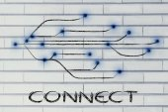 Progettazione della connettività attraverso il web — Foto Stock