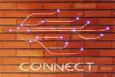 Design of the connectivity through the web — Stock Photo