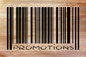 Product barcode with promotion — Stock Photo