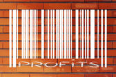 Product barcode with profits instead of number id — Foto de Stock