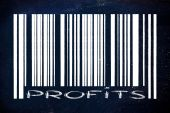 Product barcode with profits instead of number id — Stockfoto