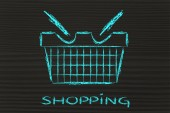 Funny shopping cart design — ストック写真