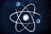 Science: atom globe with orbits — Stock Photo