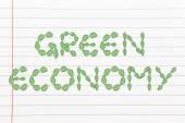 Redacción de economía verde hecho de hojas — Foto de Stock