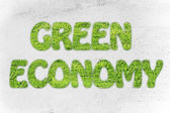 Redacción de economía verde de textura de hierba — Foto de Stock