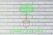 Człowiek drzewo, surrealistyczne interpretacji zielonej gospodarki — Zdjęcie stockowe