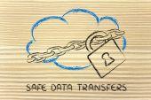 облачных вычислений, забавные устройства и облачных дизайн — Стоковое фото