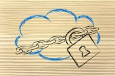 Dispositivos informáticos, funny en la nube y nube de diseño — Foto de Stock