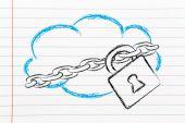 Dispositivos engraçados, computação em nuvem e nuvem design — Foto Stock