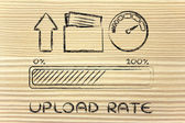 Internet and data transfer rate or speed — Stock fotografie