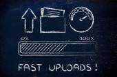 Internet and data transfer rate or speed — Stockfoto