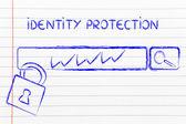 Seguridad en internet y los riesgos para la información confidencial — Foto de Stock