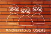 Internet security and anonymous users — Stok fotoğraf