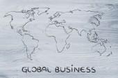 World map design: go global — Foto de Stock