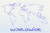 World map design: go global — Stock Photo