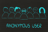 Identity protection on the web and anonymous users — Stock Photo