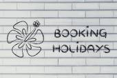 Travel industry: booking holidays — Stok fotoğraf