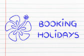 Travel industry: booking holidays — Foto de Stock