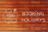 Travel industry: booking holidays — 图库照片