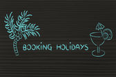 Travel industry: booking holidays — Stock Photo