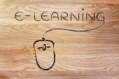 E-learning, online courses and web classes — Stock Photo