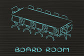 Meeting room or board room design — Stock Photo
