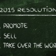 Business resolutions for 2015 — Stockfoto #58738505