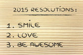 Business resolutions for 2015 — Stock Photo