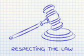 Law and courts: judges gavel illustration — Stock Photo