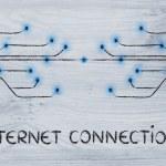 Design of optical fiber, connectivity through the web — Stock Photo #60159915