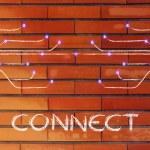 Design of optical fiber, connectivity through the web — Stock Photo #60163817