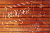 Blogger text on computer screen — Stockfoto