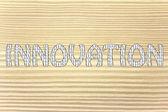 Innovation writing with binary code pattern — Stock Photo