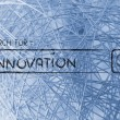 Постер, плакат: Search engine bar seeking innovation