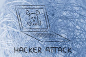 Malware threats and internet security — Stockfoto