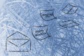 интернет-безопасности и риски для конфиденциальной информации — Стоковое фото