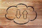 Cloud computing data transfers — Stock Photo